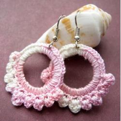 szydełkowe kolczyki - Kolczyki - Biżuteria