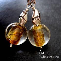kolczyki z Murano,szkło weneckie,bali,złoto - Kolczyki - Biżuteria