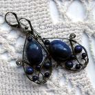 Kolczyki elfowe,romantyczne,misterne kolczyki,laspis lazuli