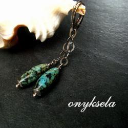 turkusowe,naturalne - Kolczyki - Biżuteria