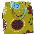 Na ramię letnia torba,bawełna,troczki,kieszonki,oliwkowa