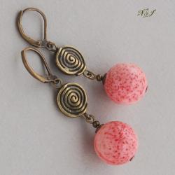 kolczyki antyczne,z koralem - Kolczyki - Biżuteria