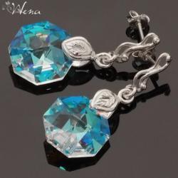 octagon,skromne,blue ab - Kolczyki - Biżuteria