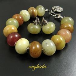 jesienny,naturalny - Komplety - Biżuteria