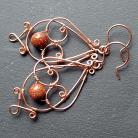 Kolczyki delikatne,romantyczne,oryginalne kolczyki