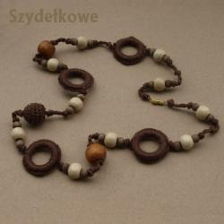 szydełkowy,indianski,oryginalny naszyjnik - Naszyjniki - Biżuteria
