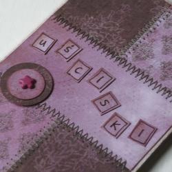 patchwork,wesoła,optymistyczna,radosna kartka - Kartki okolicznościowe - Akcesoria