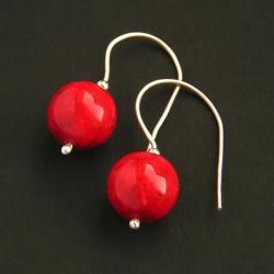 małe,drobne,czerwone kolczyki - Kolczyki - Biżuteria