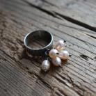 Pierścionki pierścionek srebro perły