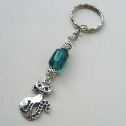 brelok,kot,szkło weneckie,do kluczy,do torebki - Breloki - Biżuteria
