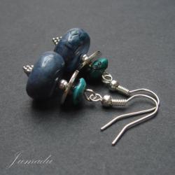 kolczyki z niebieskimi koralem,koral,turkus - Kolczyki - Biżuteria