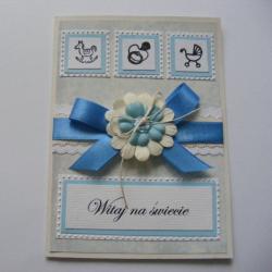 kartka,narodziny,dziecko,upominek - Kartki okolicznościowe - Akcesoria