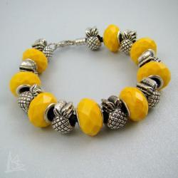 ananas,pandora,modułowa - Bransoletki - Biżuteria