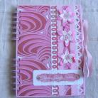 Notesy notatnik,zapiski,upominek,różowy