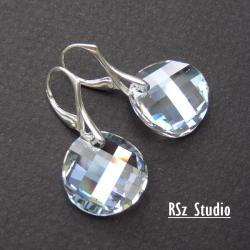 kolczyki z kryształami Swarovski,twist Moonlight - Kolczyki - Biżuteria
