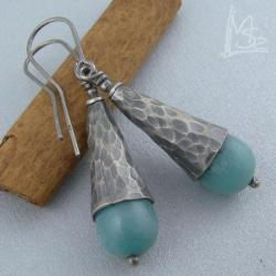 eleganckie,stare srebro,oksydowane - Kolczyki - Biżuteria