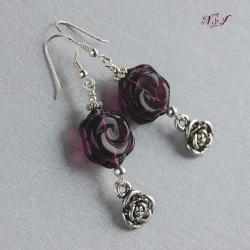róże,romantyczne kolczyki,kobiece - Kolczyki - Biżuteria