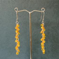 kolczyki pomarańczowe - Kolczyki - Biżuteria