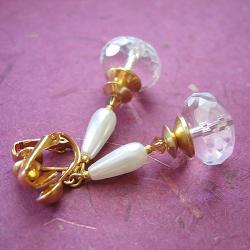 eleganckie klipsy,swarovski - Klipsy - Biżuteria