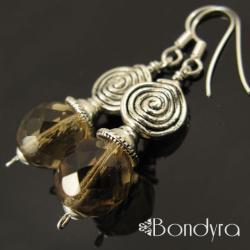 kolczyki,brązowe,urocze,stonowane - Kolczyki - Biżuteria