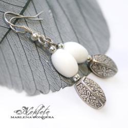 orientalne kolczyki,deseń,subtelne - Kolczyki - Biżuteria