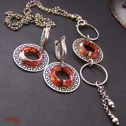 oryginalny,okrągły Swarovski - Komplety - Biżuteria