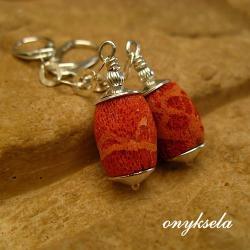 lekkie,czerwone,naturalne - Kolczyki - Biżuteria