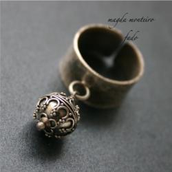 srebro,bali,pierścionek,oksydowany - Pierścionki - Biżuteria