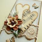 Kartki okolicznościowe ślub,retro,życzenia,serce,para młoda,nuty