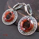 Kolczyki oryginalny Swarovski,czerwony,okrągly