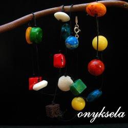 kolorowy,naturalny, - Naszyjniki - Biżuteria