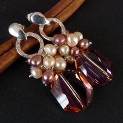 efektowne wieczorowe kolczyki - Kolczyki - Biżuteria