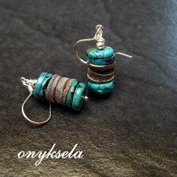 kolorowe,naturalne, - Kolczyki - Biżuteria