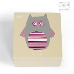 pudełko,anamarko,sowa,szkatułka - Pudełka - Wyposażenie wnętrz